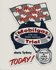 """MOBILGAS 1958 TRIAL ROUND AUSTRALIA"" SERVICE STATION PROMO VINYL DECAL STICKER"