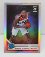 Admiral Schofield RC 2019-20 Donruss Optic Silver Prizm Rated Rookie Card #187