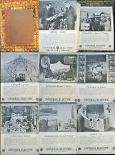 Huge Ge General Electric Photo News Bound-1932-1938 Lighting,Bulbs,Medical,St age