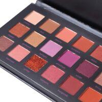 18 Farben Matt Glitter Schimmer Natürliche Creme Lidschatten-Palette Pigment