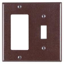 Leviton 80405 1-Toggle 1-Decora/Gfci Device Combination Wallplate, Brown
