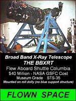 NASA - FLOWN SPACE - SPACE SHUTTLE COLUMBIA - BROAD BAND X-RAY TELESCOPE - BBXRT