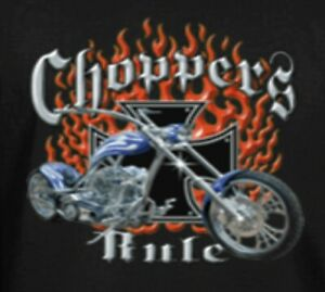 Funny T-Shirts tees Biker t-shirts Motorcycle T-shirts Men's Tees CHOPPERS RULE
