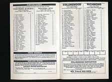 1994 Fosters Cup Collingwood v Richmond Quarter Final Football Record Magpies
