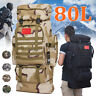 New 80L Military Tactical Backpack Hiking Camping Bag Rucksack Outdoor Trekking