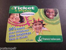 Phone Card France, Ticket International 50 Francs, Telecom, Used, Phone Card