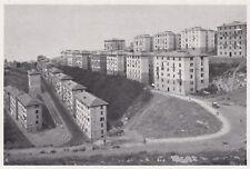 D4629 Genova - Il quartiere popolare di Oregina - Stampa d'epoca - 1935 print