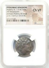 Ptolemaic Kingdom: AR Tetradrachm, Ptolemy IX, 116-81/0 BC, Silver, Ch VF NGC