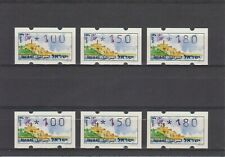 ISRAEL ATM KLUSSENDORF JAFFA SET MACHINE 26 + REGULAR SET MNH