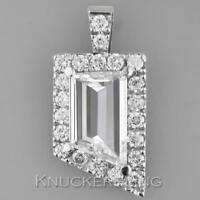 2.83ct Certificated Diamond Pendant: Modified Emerald Cut in Platinum with Chain