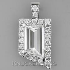 Certificated 2.83ct Diamond Pendant: Modified Emerald Cut in Platinum with Chain