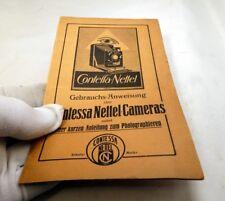 Contessa Nettel Camera Gebrauchs Anweisung  Deutsche