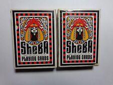2 Packs of Vintage Playing Cards Sheba African Africa 1972 Black Americana