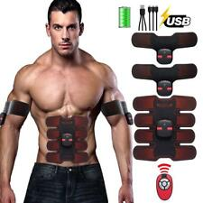 2018 Abs Stimulator Rechargeable EMS Abdominal Muscle Toner with Remote Control