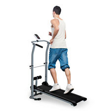 Manual Walking Treadmill Sit Up Station Cardio Fitness Workout Folding Portable
