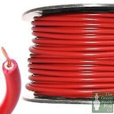 7mm HT Hochspannung ZÜNDLEITUNG KABEL - Kupferkern PVC rot