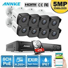 ANNKE 4K 8MP NVR POE 5MP IP Caméra Surveillance 8CH IP67 Accès à Distance H.265+