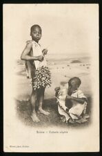 658706) AK Biskra Algerien Negerkinder gelaufen 1908