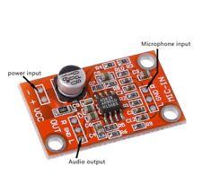AD828 Stereo Dynamic Microphone Preamplifier Board MIC Preamp Module DC 3.8V-15V