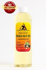 KUKUI NUT OIL ORGANIC by H&B Oils Center COLD PRESSED PREMIUM 100% PURE 36 OZ