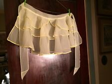 1950's Yellow Nylon Hostess Apron