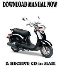 Yamaha VINO YJ125 factory repair shop service manual on CD (2004-13)