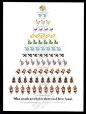 1983 Chivas Regal Scotch whisky 12 Days of Christmas tree theme vintage print ad