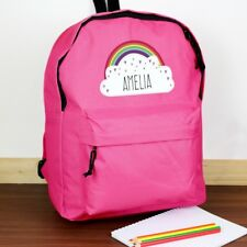 Personalised Pink Rainbow Backpack - perfect for back to school