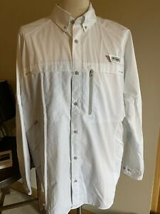 SUPERB MENS COLUMBIA PFG OMNI FREEZE ZERO FISHING HUNTING LONG SLEEVED SHIRT XL