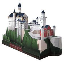 Castillo de Neuschwanstein modelo de papel 3D edificio de arquitectura de Alemania Rompecabezas hágalo usted mismo