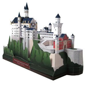3D Paper Model Neuschwanstein Castle Germany Architecture Building Puzzle DIY