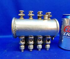 New listing Small Nickeled 4 Feed Gang Gravity Oiler for Gas / Steam Engine