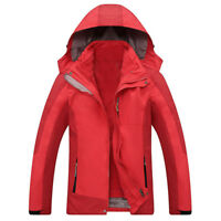 D80 Men Red Ski Snowboard Winter Waterproof Breathable Jacket S M L XL XXL