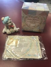 "1993 Calico Kittens ""Thinking Of You�Enesco 624713 With Box And Certificate"