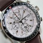 SEIKO PROSPEX SOLAR MENS WATCH CHRONOGRAPH SSC013P1 BROWN LEATHER BAND SSC013