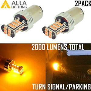 AllaLighting 1156 LED Turn Signal Light Bulb Blinker,Parking Bright Yellow Amber