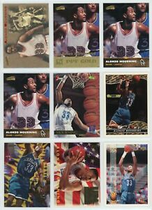 ALONZO MOURNING NBA Basketball Card Lot - 42 Cards - CHARLOTTE HORNETS, HEAT