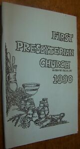 1990 VINTAGE FIRST PRESBYTERIAN  CHURCH RECIPE COOK BOOK HONEOYE FALLS NY