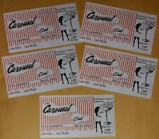 JACK RUBY CAROUSEL CLUB BUSINESS CARD REPLICA LOT OF 5 KENNEDY ASSASSINATION JFK