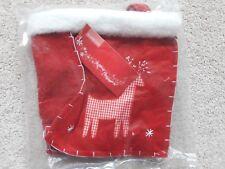 Xmas Felt BAG CHILDREN Reindeer CHRISTMAS PRESENT GIFT HANDBAG 18 x 19.5 x 7.5cm