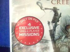 New PS3 Assassins Creed 3 Limited Gamestop Edition