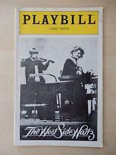 October 1981 - Forrest Theatre Playbill - The West Side Waltz - Hepburn - Loudon