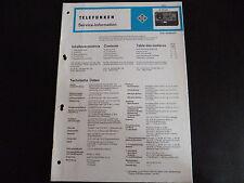 Schaltbild  Service Informationen Telefunken  M 443 hifi