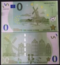 0 euro souvenir biljet Zaanse Schans molens memoeuro €0 windmill Mühle moulin