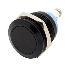 Schwarz 19mm Anti-Vandal Metall-Drucktaster Schalter Flach für Box Mods