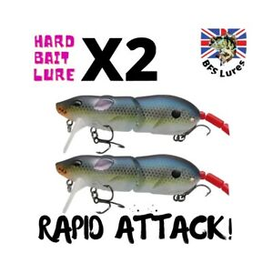 2 Fishing Lures Rat/Mouse Lure Jointed Bait Floating Bait Topwater Pike BFS Lure