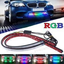 "2PCS 24"" RGB LED Strip Light Knight Rider Scanner Neon Grille Under Spoiler Hood"