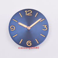 38.9mm  watch dial PARNIS sterile coffee/blue sandwichFit ETA 6497/6498 movement