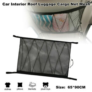Double Layer Car SUV Interior Roof Hanging Luggage Cargo Net Mesh Storage Pocket