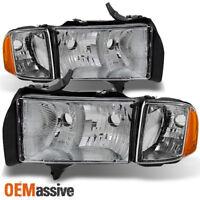 Fit 1999-2002 Dodge Ram 1500 Pickup Sport Headlights Replacement  w/Corner Lamps